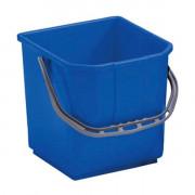 Ведро квадратное 25 литров для тележек, синее / Артикул BCKT25M