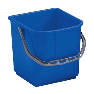 Фото Ведро квадратное 25 литров для тележек, синее / Артикул BCKT25M