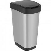 Контейнер для мусора  50 л TWISТ серебро
