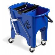 Ведро с отжимом на колесиках TTS Squizzy Roll, 15 л., синее