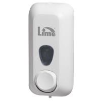 Lime Диспенсер для жидкого мыла 0.6 л заливной белый 21.6 х 9 х 10.2 см