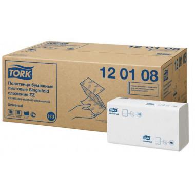 Фото Бумажные полотенца листовые TORK 1 слойные 250 шт Система H3, 20шт/упак