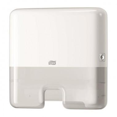 Фото Tork Xpress Mini H2 Диспенсер для листовых полотенец пластиковый белый