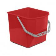 Ведро квадратное 25 литров для тележек, красное / Артикул BCKT25К