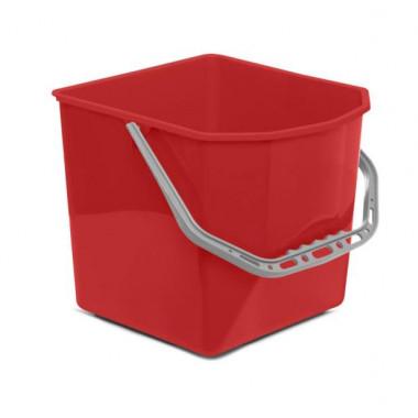 Фото Ведро квадратное 25 литров для тележек, красное / Артикул BCKT25К