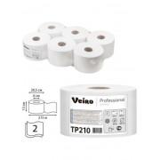 Туалетная бумага Veiro Professional Comfort, 2 слойная, 215 м 1/6
