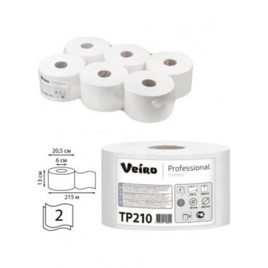 Фото Туалетная бумага Veiro Professional Comfort, 2 слойная, 215 м 1/6